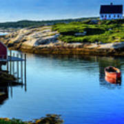 Calm Water At Peggys Cove #3 Poster