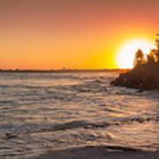 Caloundra Beach Sunset Poster
