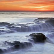 Cambria Coast Sunset Poster by Nolan Nitschke