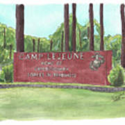 Camp Lejeune Welcome Poster