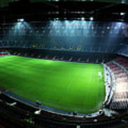 Camp Nou At Night Poster by Agusti Pardo Rossello