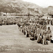 Camp San Luis Obispo Army Base 40th Division Photo 143rd Field Artillery 1941 Poster