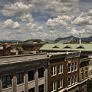 Campbell Avenue Rooftops Roanoke Virginia Poster