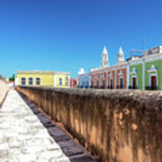 Campeche Wall And City View Poster