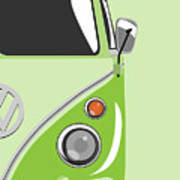 Camper Green 2 Poster by Michael Tompsett