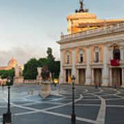Campidoglio Square In Rome Poster