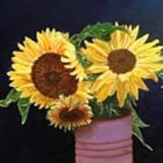Can Of Sunflowers Poster