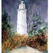 Cana Island Light House Poster