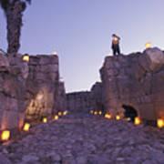 Canaanite Entrance Gate To El Megiddo Poster