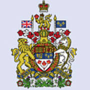 Canada Coat Of Arms Poster