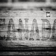 Canada In Black And White Poster