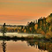 Canadian Autumn Sunrise Poster