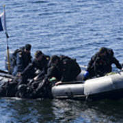 Canadian Divers Being Helped Aboard Poster