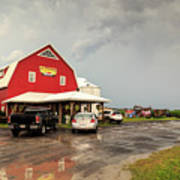 Canadian Farm After Storm Poster