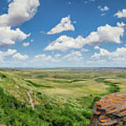 Canadian Prairie At Head-smashed-in Buffalo Jump Poster