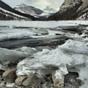 Canadian Rockies Rugged Winter Landscape Poster