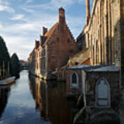 Canal By Church Poster