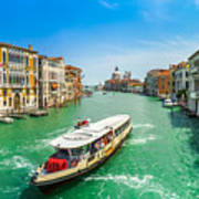 Famous Canal Grande In Venice Poster