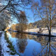 Canalside Winter Wonderland Poster