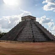 Cancun Mexico - Chichen Itza - Temple Of Kukulcan-el Castillo Pyramid 1 Poster