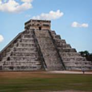 Cancun Mexico - Chichen Itza - Temple Of Kukulcan-el Castillo Pyramid 2 Poster