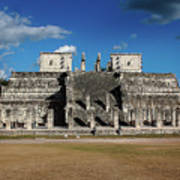Cancun Mexico - Chichen Itza - Temple Of The Warriors Poster