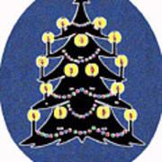 Candlelit Christmas Tree Poster