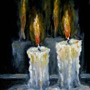 Candles Oil Painting Poster