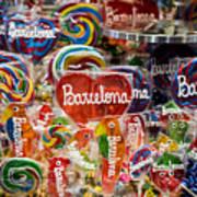 Candy Stand - La Bouqueria - Barcelona Spain Poster