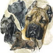 Cane Corso W/ghost Poster