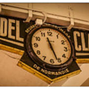 Cannes - Market Clock  Poster