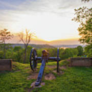 Cannon At Fort Boreman Poster