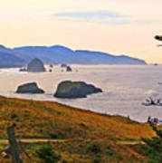 Cannon Beach From Ecola State Park Poster