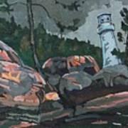 Canoe Lake Light Poster