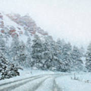 Canyon Snow Poster