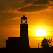 Cape Blanco Lighthouse Sunset 2 Poster