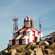Cape Bonavista Lighthouse, Newfoundland, Canada Old And New Lamp Poster