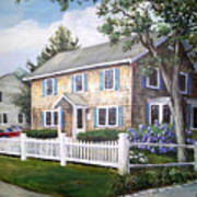 Cape Cod House Painting Poster