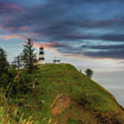 Cape Disappointment After Sunset Poster