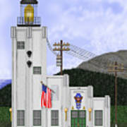 Cape Hinchinbrook Lighthouse In Alaska Poster by Anne Norskog