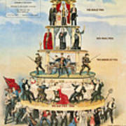 Capitalist Pyramid, 1911 Poster by Granger