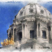Capitol Dome St Paul Minnesota Poster