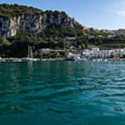 Capri Island Silky Smooth Emerald And Aquamarine Poster