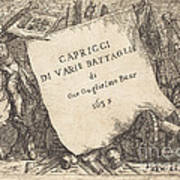 Capricci Di Varie Battaglie (title Page) Poster