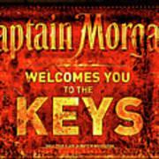 Captain Morgan Welcome Florida Keys Poster