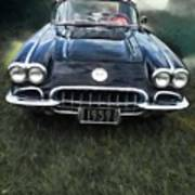 Car On The Grass Poster