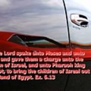 Car Reflection With Text 4 Poster