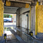 Car Wash Interior Poster