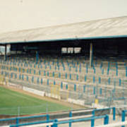 Cardiff - Ninian Park - East Stand Railway Side 2 - August 1991 Poster