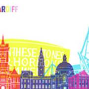 Cardiff Skyline Pop Poster